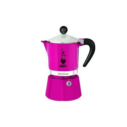 31VckRpHMQL. SS500  - Bialetti Rainbow Espresso Maker for 3 Cups, Aluminium, Fuchsia, 30 x 20 x 15 cm