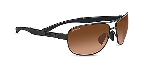 Serengeti Norcia Drivers Gradient Sunglasses - Satin Black/Black, Large