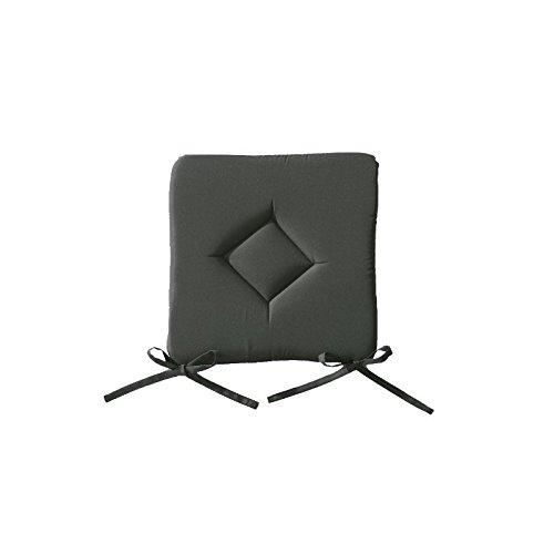 AC-Déco Galette de Chaise 40 x 40 cm - Gris Anthracite