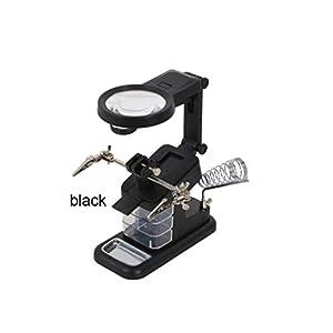 beIilan Ayudando USB Manos estación Lupa de pie eléctrico de Soldadura