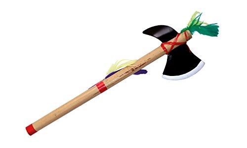 - Tomahawk und Friedenspfeife für den kleinen Indianer (Tomahawk Bambus Länge: ca. 38 cm, Klinge aus Kunststoff, Stab aus Bambus) (Jungen Kostüme)