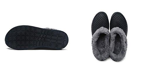 Unisex Adulto Invernali Pantofole Confortevole Caldo Pantofole Caldo e traspirante BETY 35-44EU Nero