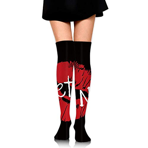 rints On Black Background Knee High Graduated Compression Socks for Unisex - Best Medical, Nursing, Travel & Flight Socks - Running & Fitness ()