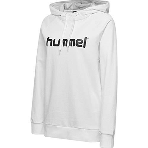hummel Damen HMLGO Cotton Logo Hoodie Kapuzenpullover, Weiß, XL Logo Hoodie Weiß