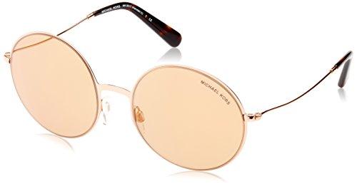 Michael kors kendall ii 1026r1 55 occhiali da sole donna, oro rose gold flash