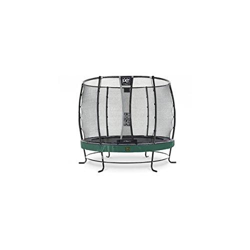 EXIT Trampolin Elegant Premium Ø 251 cm grün mit Netz Deluxe 08.20.08.20