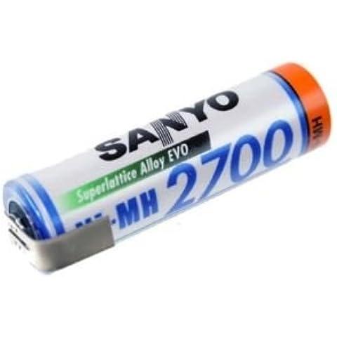 Panasonic AA Mignon batteria/1,2V 2700mAh/BK–3hgae/con linguetta saldata Z