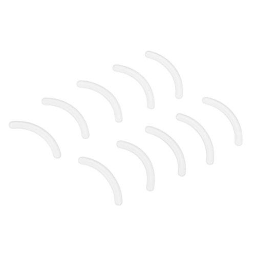 Homyl 10 Stück Damen Ersatzgummi Ersatzpolster Wimpernzange Wimpernformer Pads, Bunt - Weiß