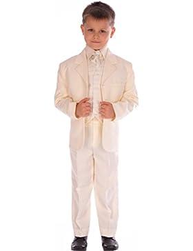 5-teiliges Boys All Creme Anzug