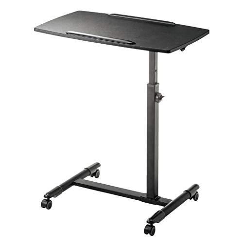 (XUE Computertisch, Stehtisch Laptopständer Home Hubtisch Faltbarer Mobiler Podium-Tisch 70-88CM (Farbe : SCHWARZ))