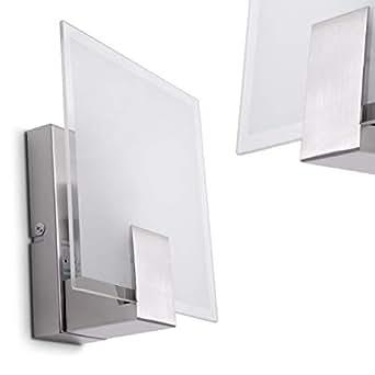 Wandleuchte mit Schalter - Wand Lampe aus Glas mit E14 ...