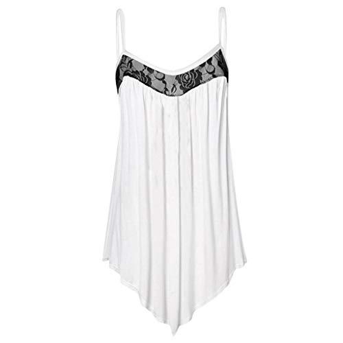 Cool-plus-gestreiften Polo (Damenmode Plissee Spitze verschönert Camis Weste Sommer sexy lose Sling Top solide atmungsaktive Shirt Tunika)