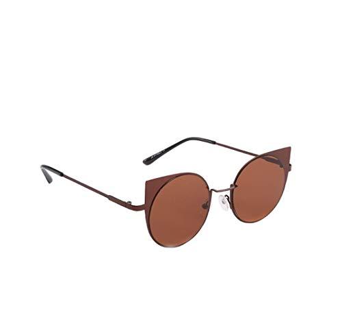 Hniunew Katzenauge Metall Rand Rahmen Damen Frau Mode Sonnebrille Gespiegelte Linse Ultraleicht Rahmen Polarisierte Katzenaugen Sonnenbrille UV400 reflektierenden Spiegel Women Sunglasses