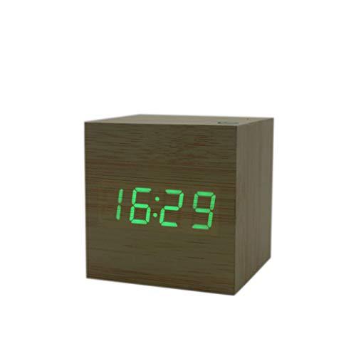 Floridivy Pantalla cuadrada Cubo USB alarma escritorio
