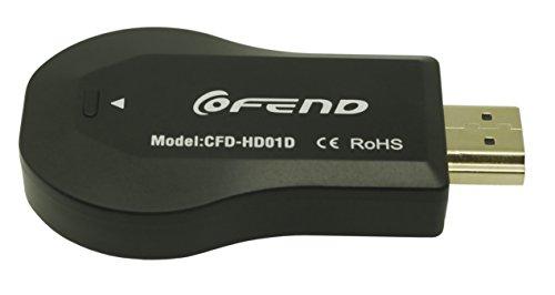 Wireless HDMI Bildschirm Spiegel Dongle, COFEND® CE ROSH Zertifiziert WiFi Display TV Dongle Empfänger 1080P DLNA Airplay Miracast Einfach Teilen Wireless TV Stick für Smartphone Notebook PC zu HDTV