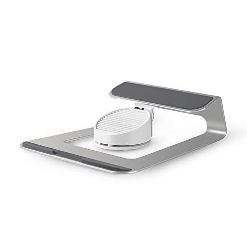ZZWBOX Notebook-Ständer, Notebook-Kühler-Hubtisch 6-Fach verstellbar Tragbarer Computer-Klappständer USB-Lüfter für Handyhalterung Buchstand,Silver -