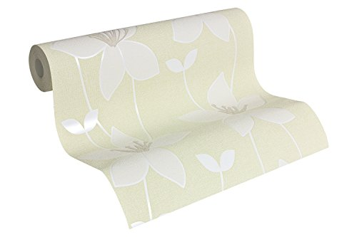 A.S. Création Vliestapete Paloma Tapete floral 10,05 m x 0,53 m creme grün Made in Germany 300993 30099-3 - Paloma Creme