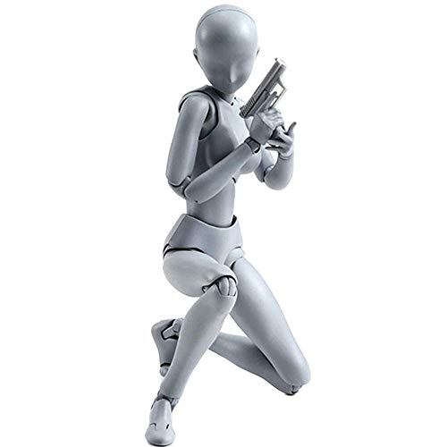 DAYOLY Body Chan & Kun Muñeca Hombre Hembra DX Set, Movebale Figura de acción Modelo para regalos SHF, bosquejo, pintura, dibujo, artista mujer
