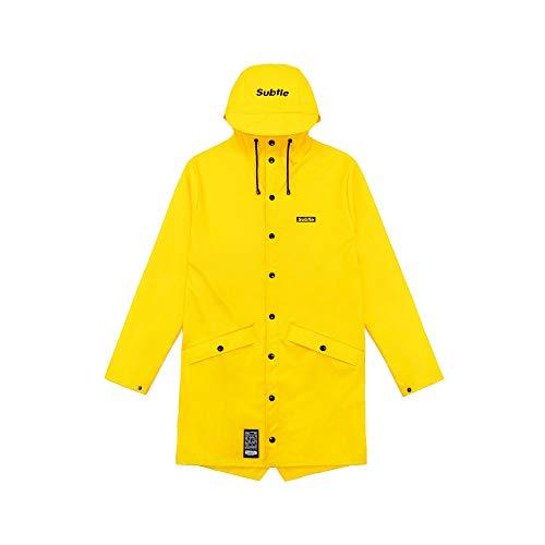 Megastore4 Subtle Urban Wear Raincoat Unisex-Stil Regenjacke wasserdicht Herren und Damen Jacke...