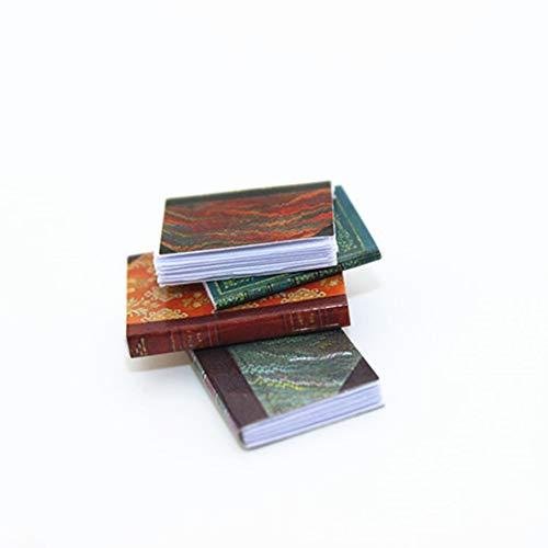 gzzebo Libro de simulación en Miniatura Libro Modelo DIY Casa de muñecas Jardín Decoración 1/6 1/12 Escala