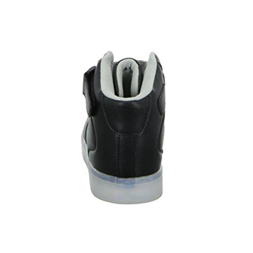 (Present:kleines Handtuch)JUNGLEST® 7 Farbe USB Aufladen LED Leuchtend Sport Schuhe Sportschuhe High Top Sneaker Turnschuhe für Unisex-Erwa c29