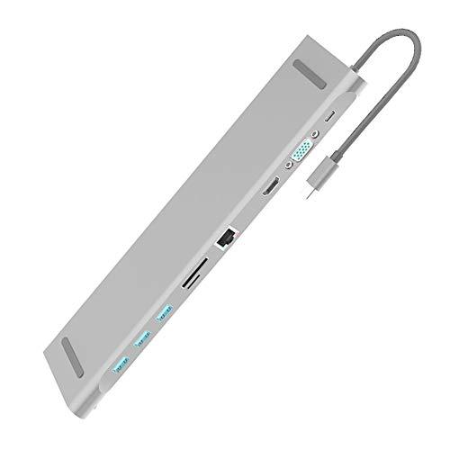 KiGoing 10-in-1-USB-3.0-Typ-C-Hub-Notebook-Stand-Hubs Geeignet für Notebooks mit 3.1-Typ-C-Schnittstelle Mpeg4 Stand