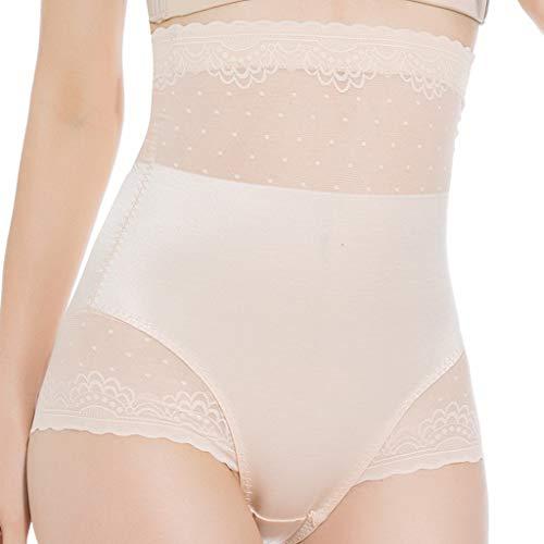 IZHH Damen Wrap Korsett Body-Shaping Pant Lace Bottom Pant Seamless High-Waist Bottom Unterwäsche Dünne Taille Postpartum Shapewear Einfarbig Control Briefss Khaki XL