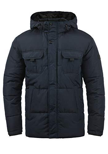 JACK & JONES Core Jaap Herren Winter Jacke Steppjacke Winterjacke gefüttert mit Kapuze, Größe:L, Farbe:Navy Blazer