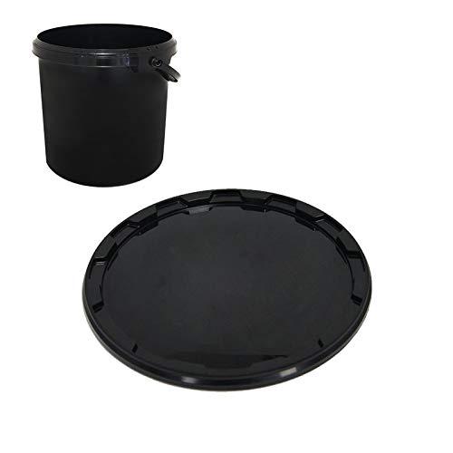 Couvercle noir pour seau noir avec anse 10.7L Diam.267