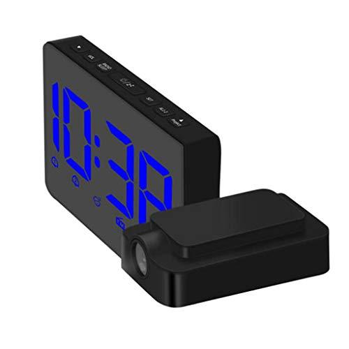Homyl Digital Projektionswecker Projektionsuhr Projektionszeit mit AM/FM Radio Funktion, ca. 17 x 8.4 x 3.85 cm - Blau