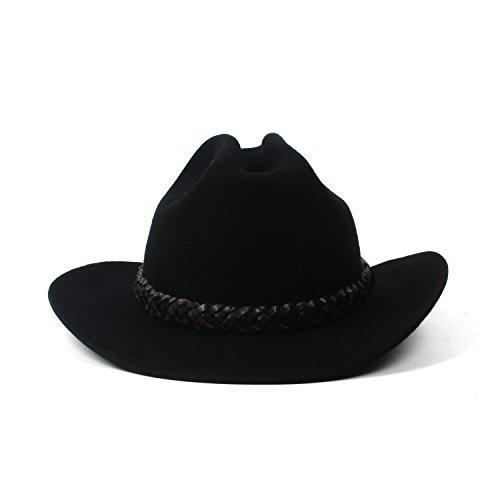 Fang-Gorros, Sombrero de Vaquero Negro Vintage Sombrero de Vaquero 100