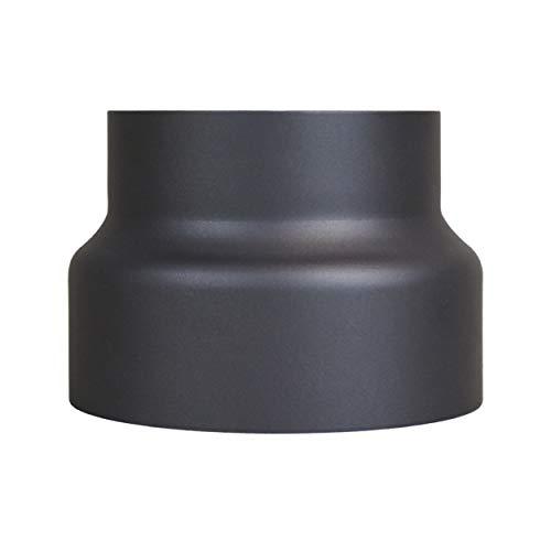 LANZZAS Conduit de fumée de cheminée Tuyau de poêle tuyau réduction Ø 180 mm sur Ø 150 mm Noir