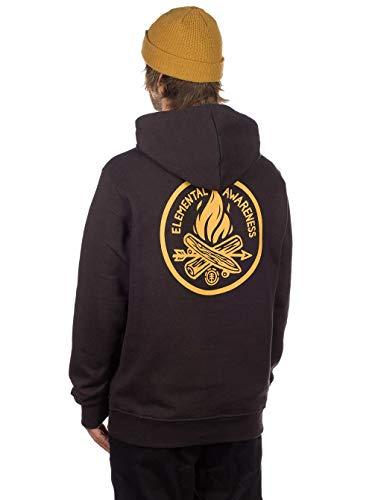 Element Herren EA Logo Printed Fleece Sweatshirt Off Black M Element-fleece-sweatshirt
