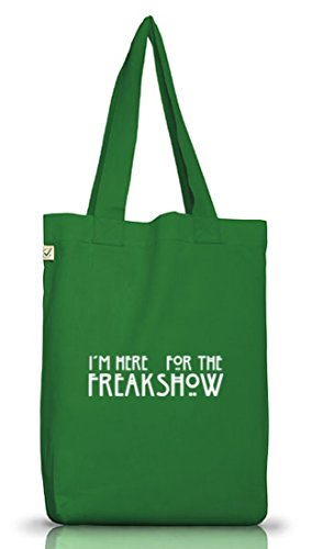 Shirtstreet24, AHS - Freak Show, Jutebeutel Stoff Tasche Earth Positive (ONE SIZE) Moss Green