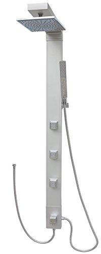 Duschpaneel mit Massagedüsen Regendusche Duschsäule Duschsystem Überkopfbrause Silber Duschkopf Dusche Badewanne Komplettdusche
