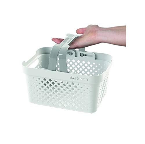 Blanco//Gris Sistema Stack n Nido Basket-5.25/L 26.1/x 19,1/x 13,8/cm