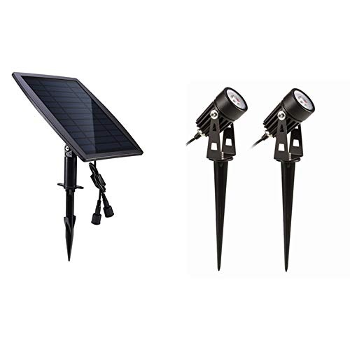 Illumination Outdoor Solar Dual Head drehbare Sicherheitslicht IP65 wasserdichte Wandleuchte Garten Niederspannung Auto On/Off Landschaft Dämmerung zur Morgendämmerung -