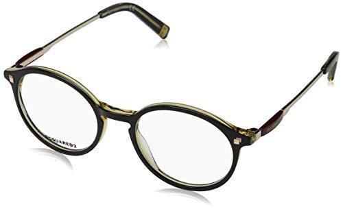 Dsquared2 dq5199, occhiali da sole unisex-adulto, (nero/altro), 49.0