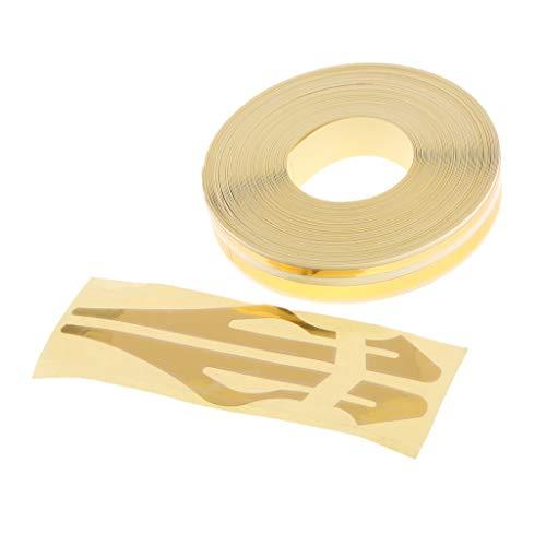 H HILABEE Klebestreifen Montageklebeband Abklebeband Streifen Tape Folie Aufkleber für Auto Boot Motorrad und Modellbau - Golden (Auto-striping-tape)