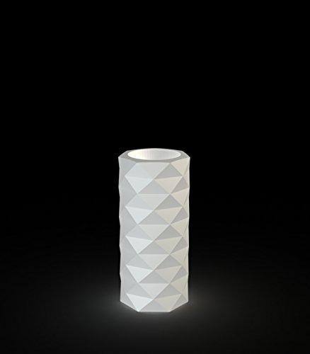 Vondom - MARQUIS Blumentopf - eisweiß (transparent) - beleuchtet - Ø 25 x 53 cm - José Manuel Ferrero