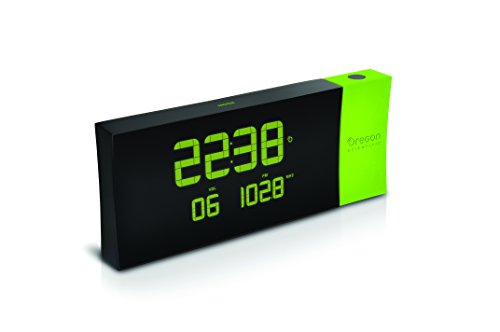 Oregon Scientific - RRM222P Reloj proyector con radio FM, PRYSMA G, Color Verde
