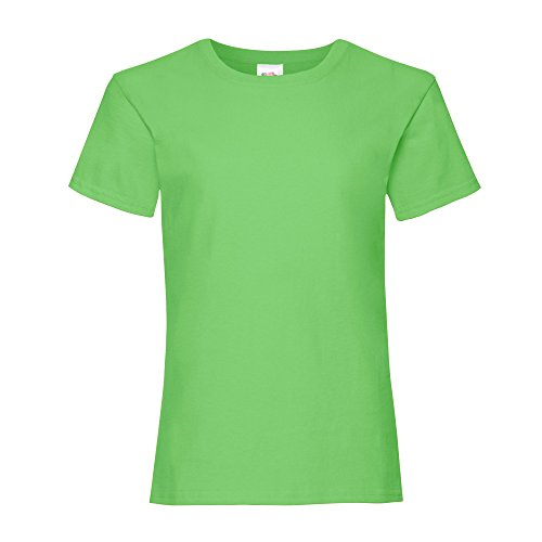 Fruit of the Loom Mädchen T-Shirt, Kurzarm (3-4 Jahre) (Limette) (4 Kinder-t-shirt)