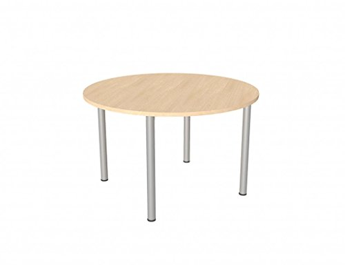 Bureau-lphant-Premium-ronde-Table-de-runion-de-4-pieds-en-htreargent-1000-diam-X720h-CW-Garantie-5-ans