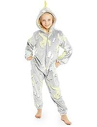 CityComfort Pijamas de Animales Enteros Niños One Piece Soft, Unicorn Costume Girl Cat Lion, Ropa de Dormir Girl Winter, Monos con Capucha