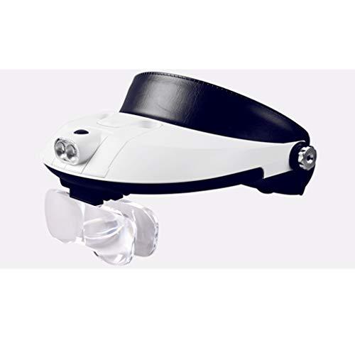 Vergrößerungslinse, die LED mit Lampe trägt, die das HD-Mikroskop liest