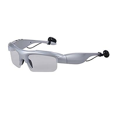 Garyesh Bluetooth V4.1 gafas de sol con Bluetooth para auriculares para teléfonos inteligentes o tabletas de PC con las manos libres respuesta Función del teléfono reproductor de música MP3 (Plata)
