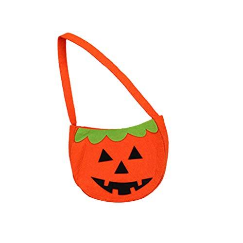 Kind Niedliche Blutige Kostüm - Tensay Halloween Kürbis Tasche neue tragbare lustige Anzieh kleine Accessoires Candy Bag Handheld Vliesstoff lustige Hauptdekoration