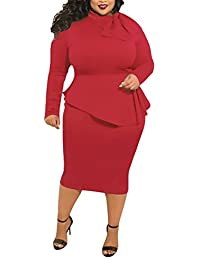 Vestidos De Fiesta Mujer Tallas Grandes Elegante Primavera Otoño Manga Larga Cuello Redondo Medium Largos Vestido