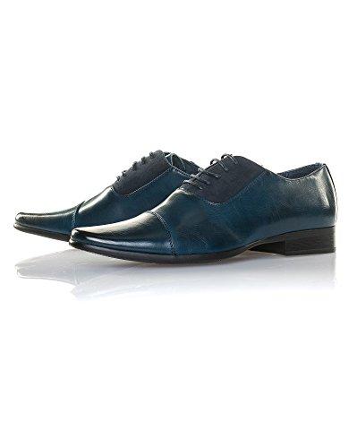Reservoir Shoes - Chaussure basse chic homme bi-matière bleu navy Bleu