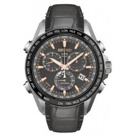 Seiko Herren-Armbanduhr Chronograph Quarz Leder SSE023J1